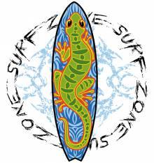 TRANSFER CAMISETA LAGARTO TABLA SURF