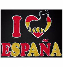 TRANSFER BORDADO I LOVE ESPAÑA