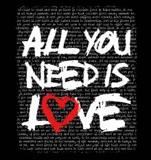 TRANSFER CAMISETA ALL YOU NEED IS LOVE
