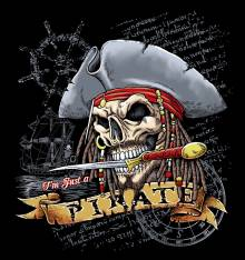 TRANSFER CAMISETA I'M JUST A PIRATE