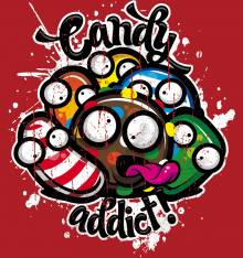 TRANSFER CAMISETA CANDY ADDICT