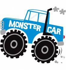 TRANSFER CAMISETA MONSTER CAR