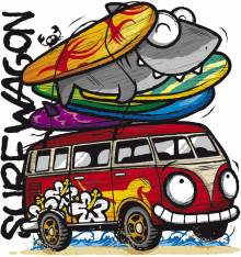 TRANSFER CAMISETA SURF WAGON