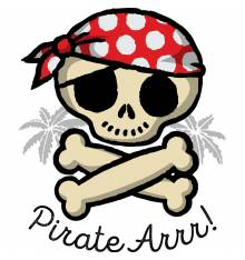 TRANSFER CAMISETA PIRATE ARR