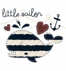 TRANSFER CAMISETA BALLENA LITTLE SAILOR