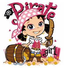 TRANSFER CAMISETA PIRATE GIRL