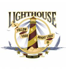 TRANSFER CAMISETA FARO LIGHTHOUSE