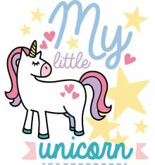 TRANSFER CAMISETA MY LITTLE UNICORN