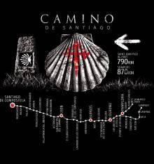 TRANSFER CAMISETA CAMINO SANTIAGO CONCHA