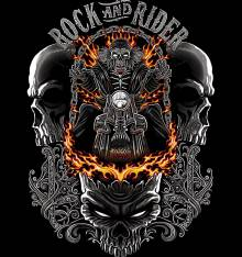 TRANSFER CAMISETA ROCK AND RIDER