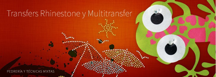 Rhinestone/studs Multitransfer